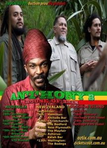 Anthony B (JA) & House of Shem Australasian Tour