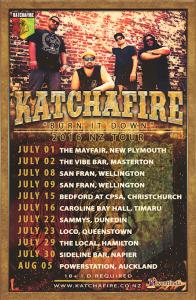 Katchafire 'Burn It Down' NZ Tour