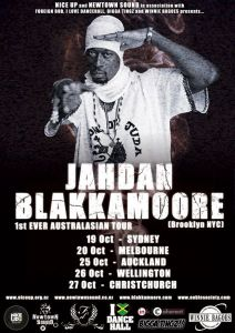 Jahdan Blakkamore tour poster