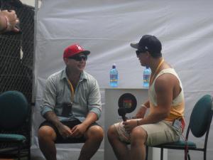 Israel Starr interviewing artist