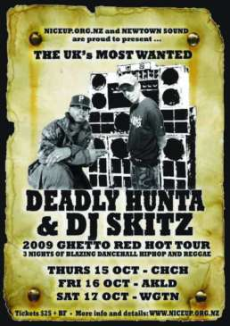 Deadly Hunta and Skitz Ghetto Red Hot NZ Tour