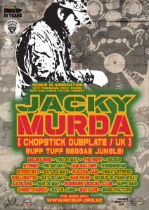 Jacky Murda (Chopstick Dubplate, UK) Australasian Tour