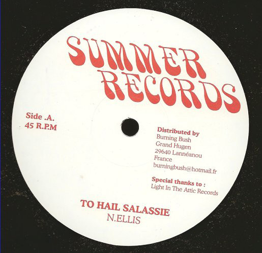 Noel Ellis – To Hail Selassie